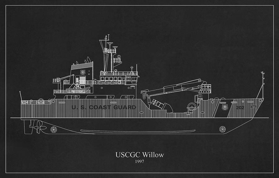 bk03 - United States Coast Guard Cutter Willow wlb-202 by JESP Art and Decor