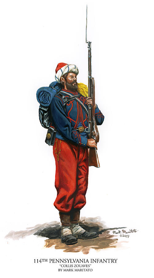 114th Pennsylvania Infantry - Collis Zouaves Painting