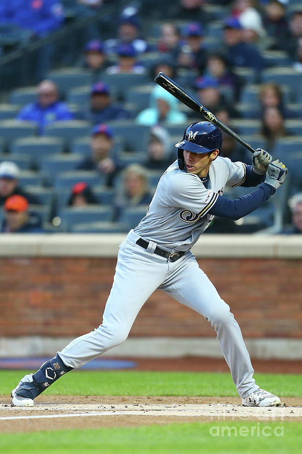 Christian Yelich Photograph by Mike Stobe