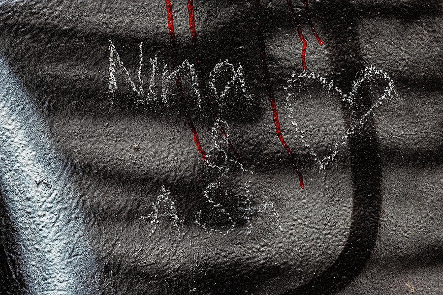 Detail Of Graffitied Wall Photograph