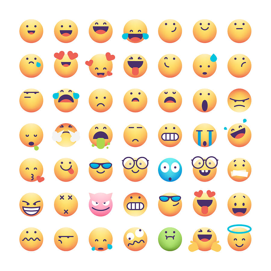 Emoticons collection Drawing by Calvindexter