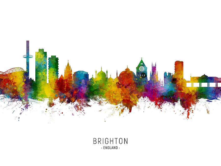 Brighton England Skyline Digital Art By Michael Tompsett