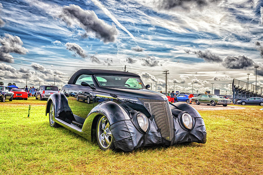 Customized 1937 Ford Deluxe Convertible Photograph