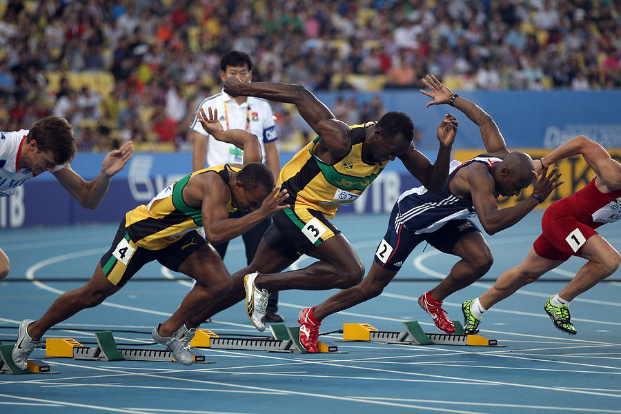 13th IAAF World Athletics Championships Daegu 2011 - Day Two Photograph by Chris McGrath