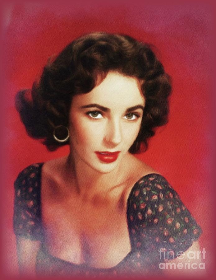 Elizabeth Taylor, Hollywood Legend Painting