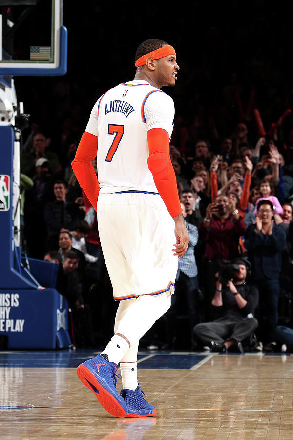 Carmelo Anthony Photograph by Nathaniel S. Butler