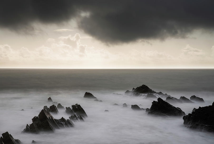 Stunning Fine Art Landscape Image Of View From Hartland Quay In Photograph
