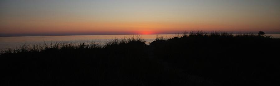 Sun Photograph - Sun leaving Lake Michigan by Eldon McGraw