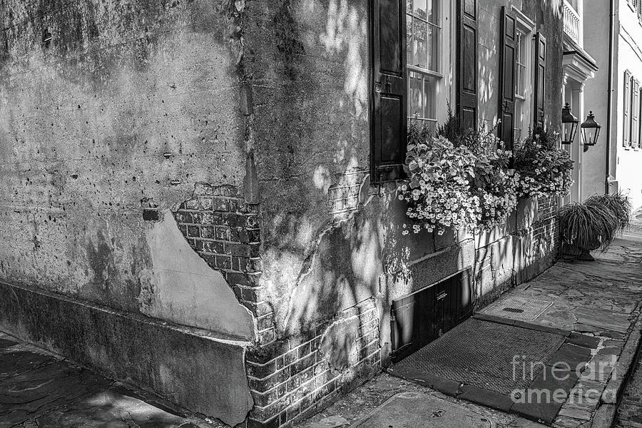 Charleston Facade - Stucco Over Brick Photograph