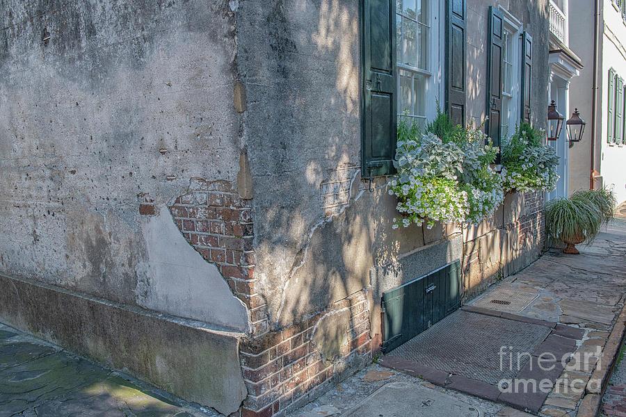 Brick Stucco - Historic Charleston Home Photograph