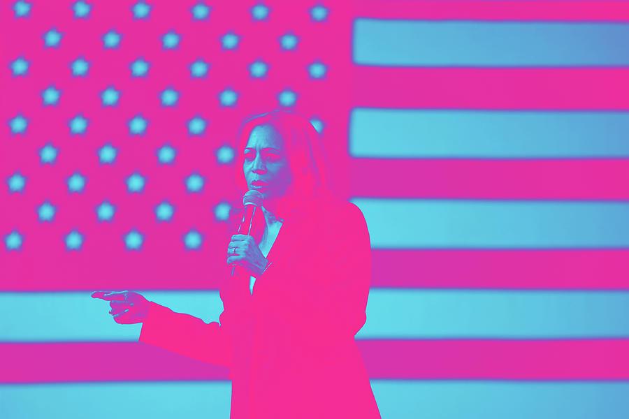 Portrait Of Vice President Kamala Harris By Gage Skidmore Digital Art