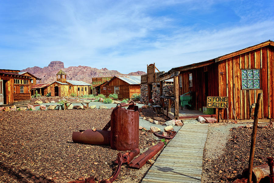 Kofa Mountains Photograph - 1800s Mining Town by Jack and Darnell Est