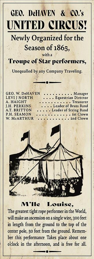 1865 Circus Digital Art