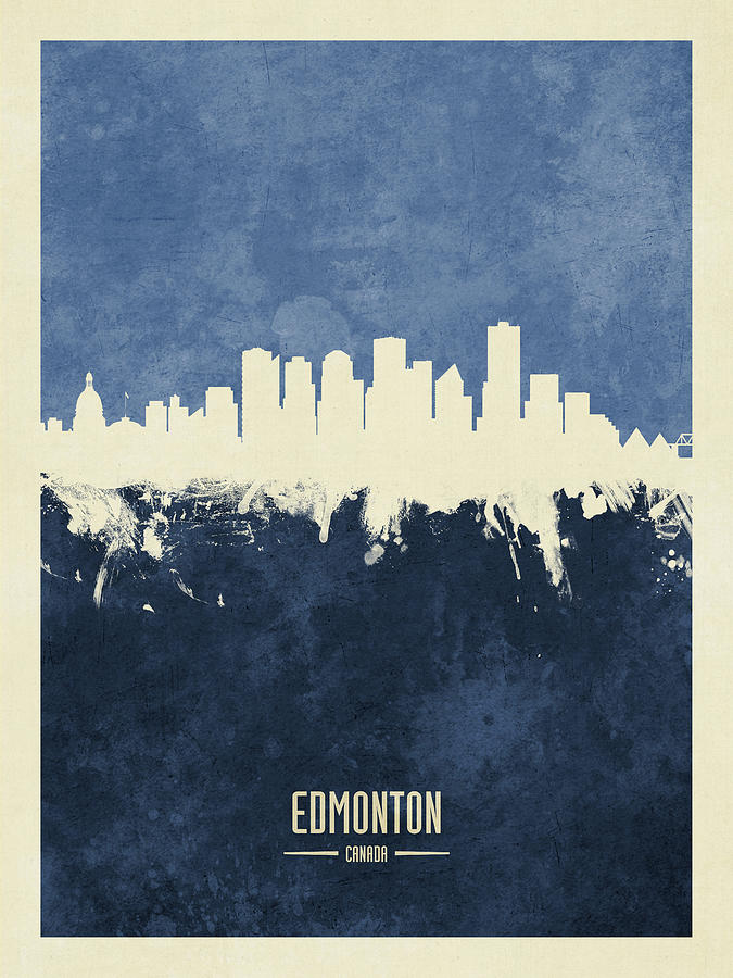Edmonton Digital Art - Edmonton Canada Skyline by Michael Tompsett