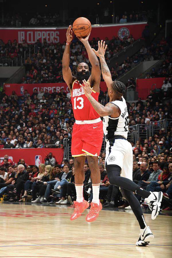James Harden Photograph by Andrew D. Bernstein