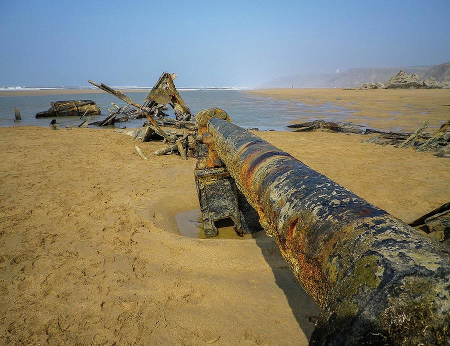 1917 Shipwreck Of Ss Belem Cornwall Photograph