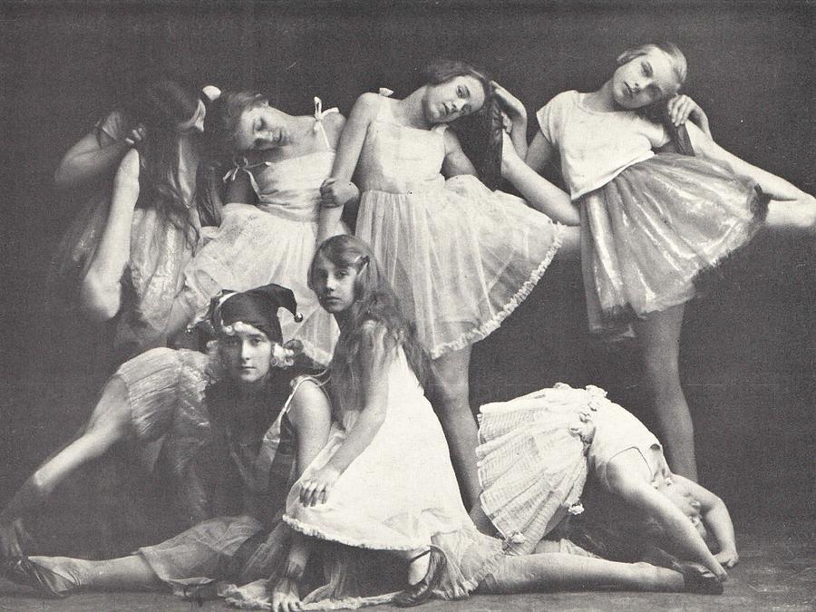 Ballerina Photograph - 1925 Dance Class, Berlin, Antique Photograph by Thomas Dans