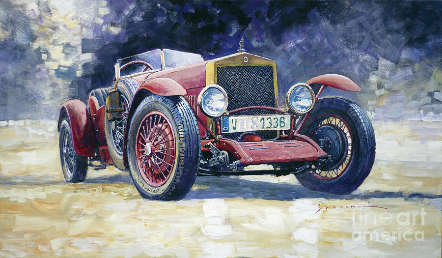 Automotive Painting - 1928 Wikov 7-28 Sport  by Yuriy Shevchuk