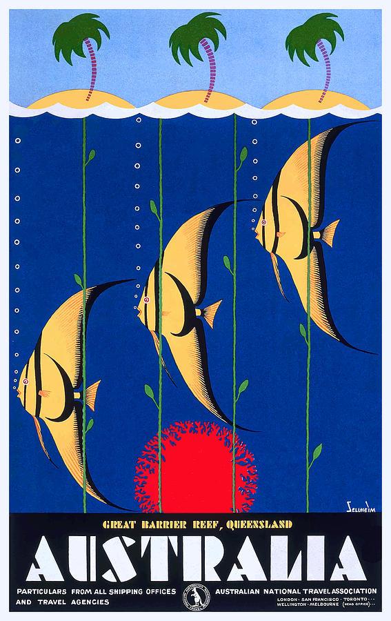 Australia Vintage Travel Poster Graphic Tote Bag