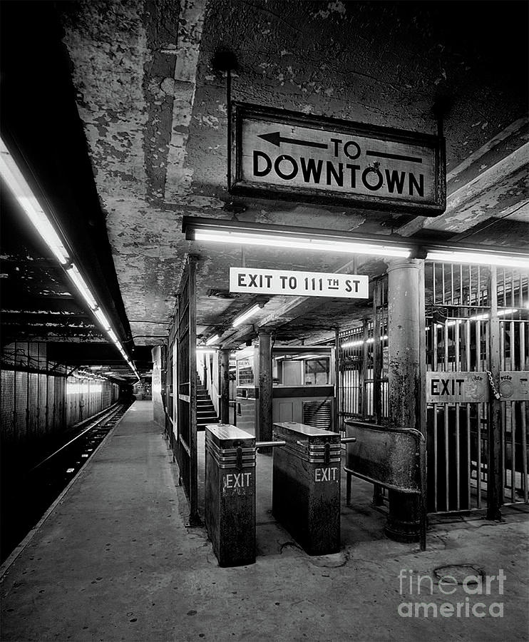 1930s Platform, Turnstile And Control Area - N.y. Photograph