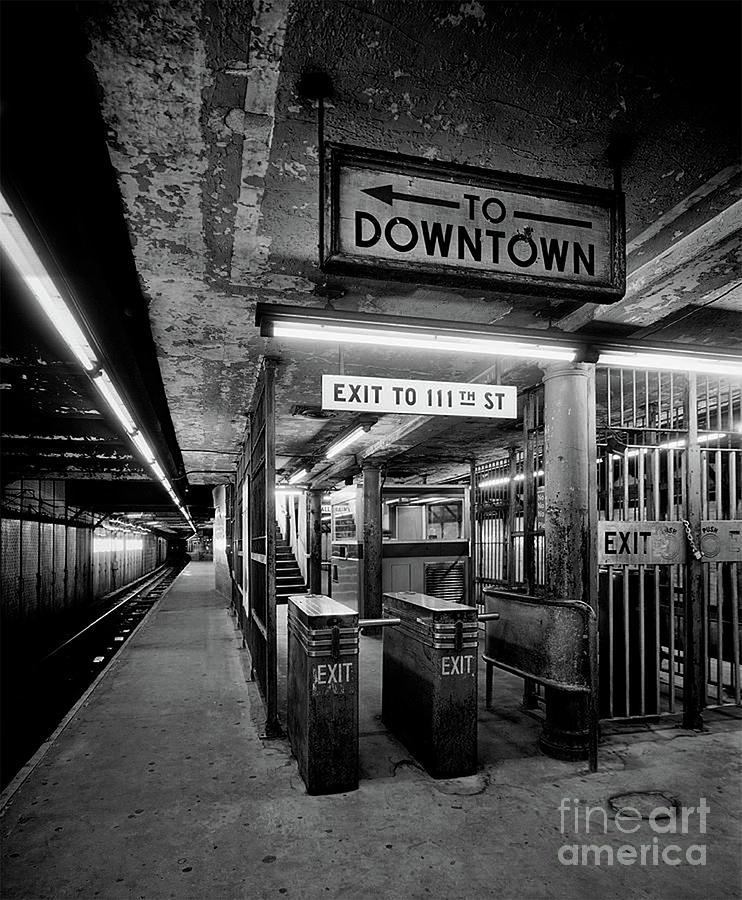 1930's Platform, Turnstile and Control Area - N.Y. by Doc Braham