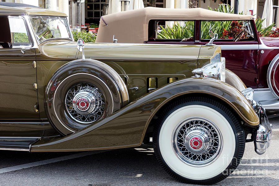 1930s Photograph - 1933 and 1934 Packard Twelve Classic Cars by Brian Jannsen