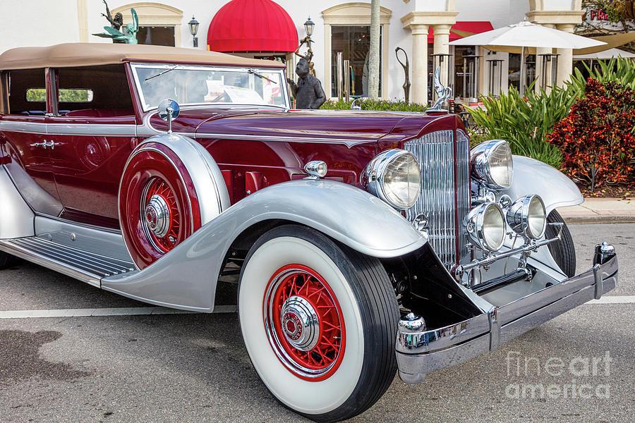 1933 Packard Twelve - Classic Car Photograph