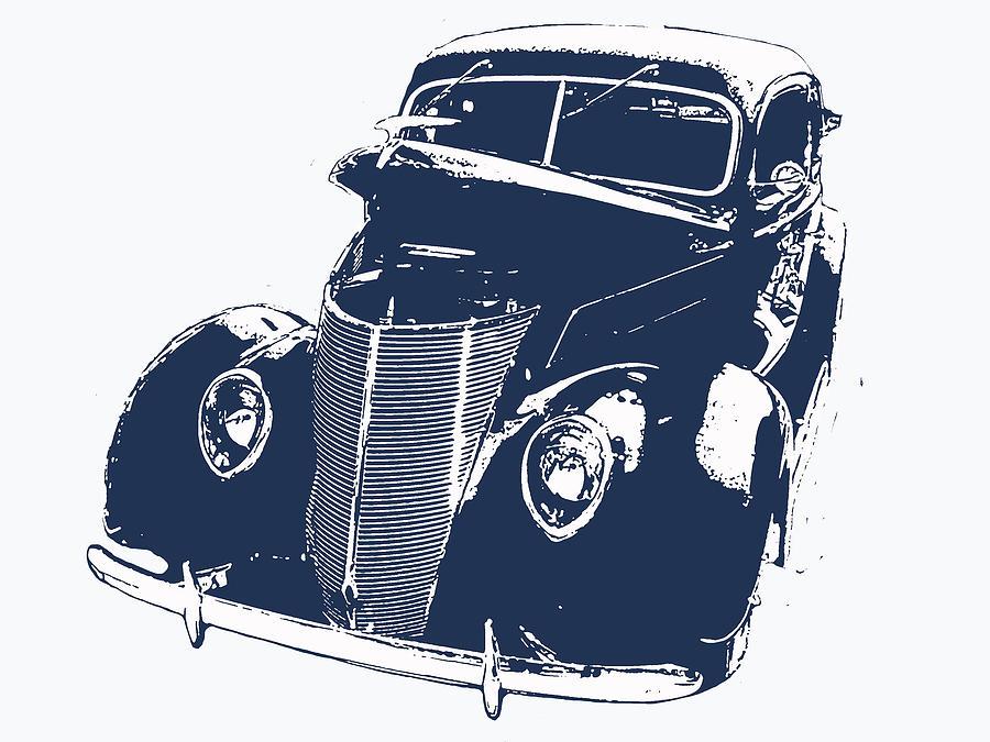 Auto Digital Art - 1937 Classic by Jeremy Edsall