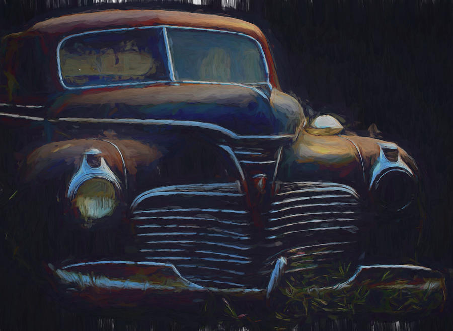 Car Digital Art - 1941 Plymouth Deluxe by Cathy Anderson