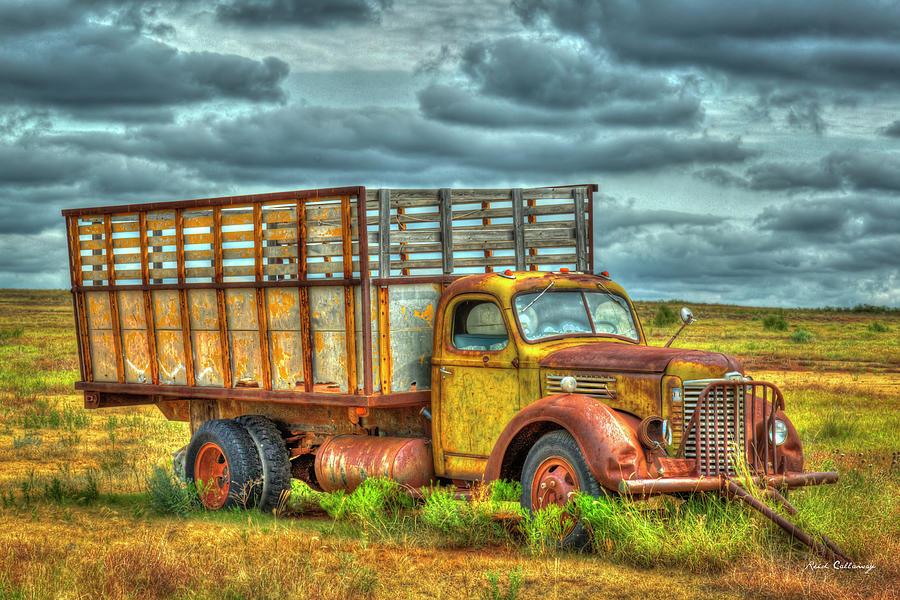 1948 International K B6 Series Truck Farming Landscape Art by Reid Callaway