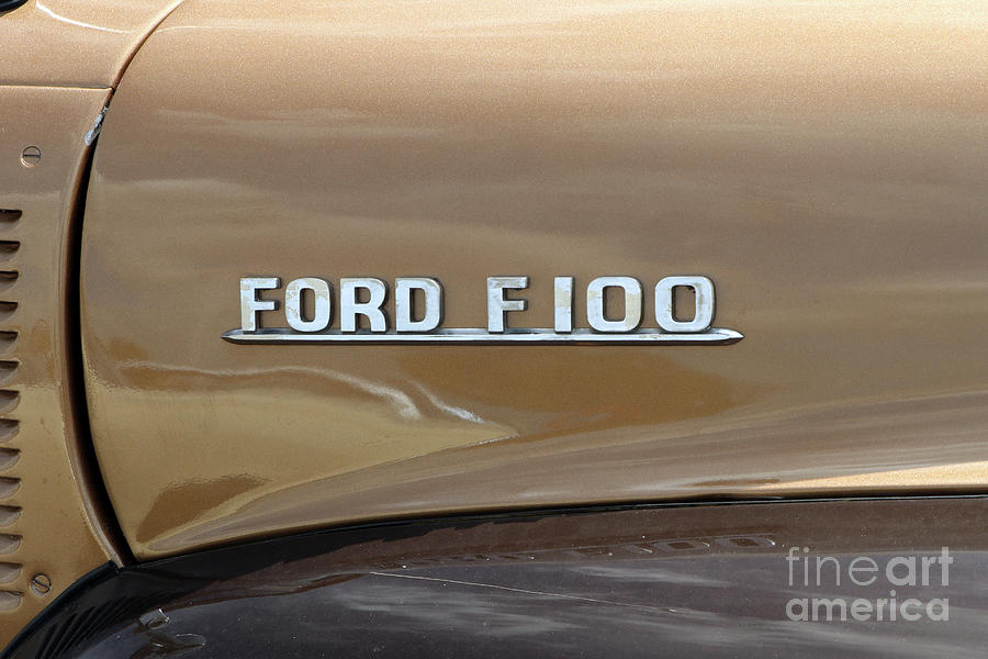 1954 Ford F 100 Pickup Emblem 8308 Photograph
