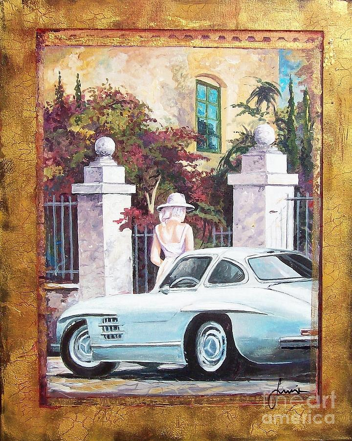 Mercedes-benz 300 Sl Painting - 1954 Mercedes Benz sl 300 Gullwing by Sinisa Saratlic