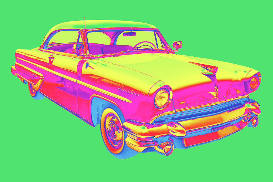1955 Lincoln Capri Luxury Car Pop Art Photograph