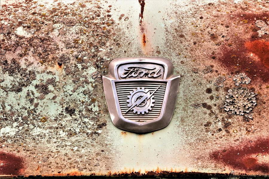 1956 Ford Truck Badge  by Sheila Brown