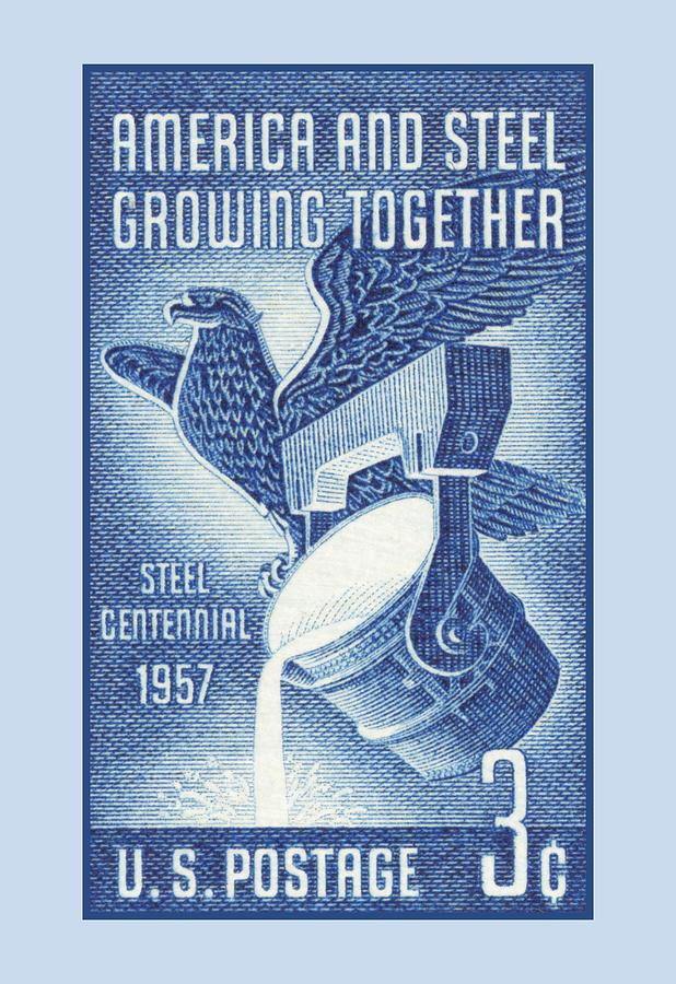 1957 Steel Stamp Digital Art