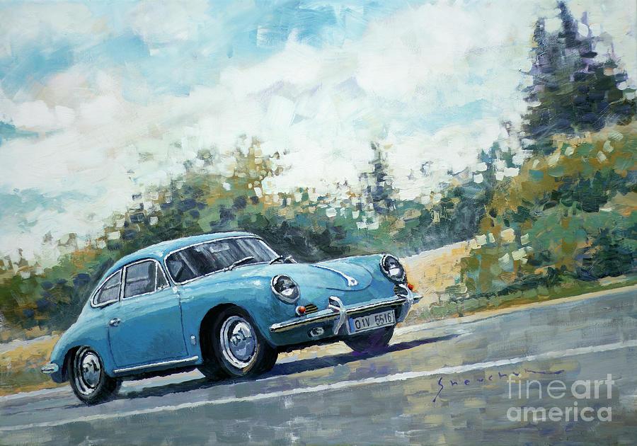 Automotive Painting - 1959 Porsche 356 B Super 90  by Yuriy Shevchuk
