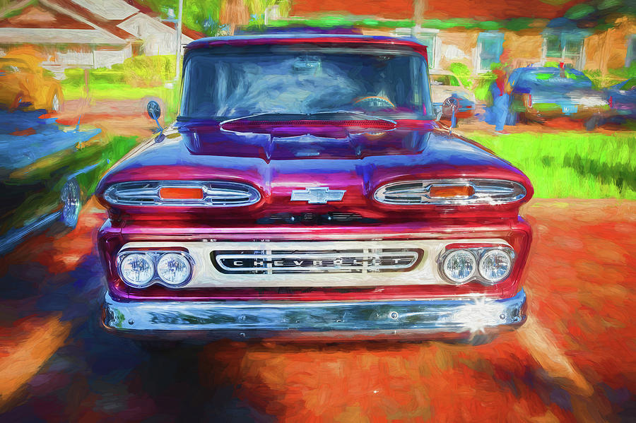 1961 Chevy Pick Up Truck Apache 10 Series X120  by Rich Franco
