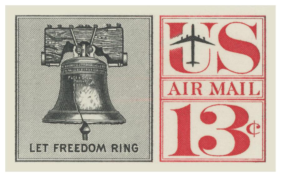 1961 Let Freedom Ring Stamp Digital Art