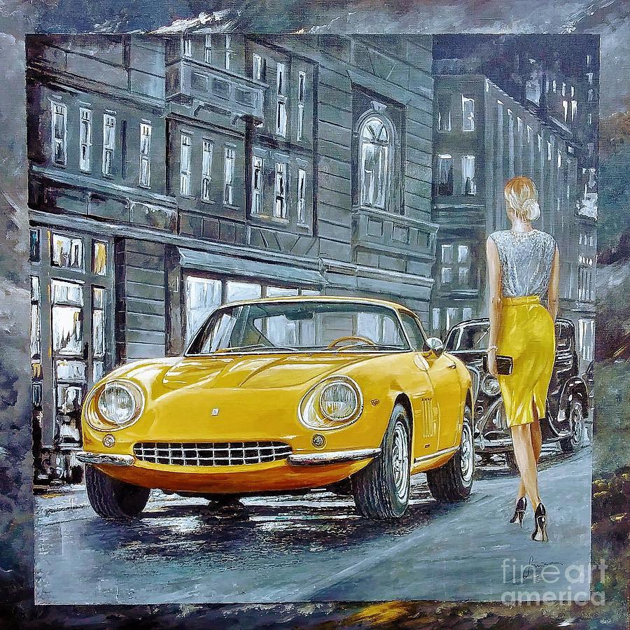 Transportation Painting - 1965 Ferrari 275 GTB by Sinisa Saratlic