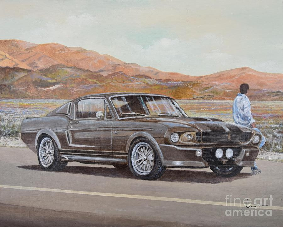 1967 Ford Mustang Fastback Painting - 1967 Ford Mustang Fastback by Sinisa Saratlic