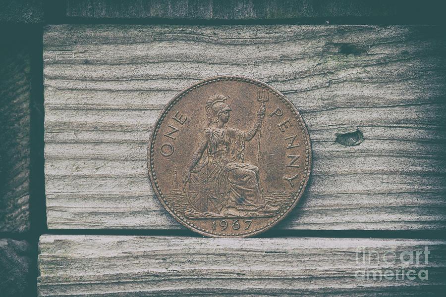 1967 Great Britain Bronze Peny Photograph