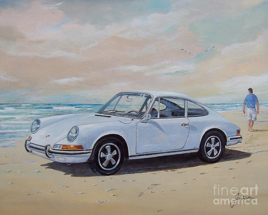 Seascape Painting - 1967 Porsche 911 s coupe by Sinisa Saratlic