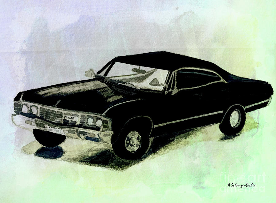 1969 Chevy Impala Mixed Media