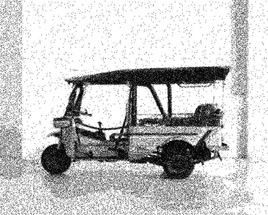 1994 Tuk Tuk Bkh 4 Classic Cars - Dotted Art Poster Digital Art