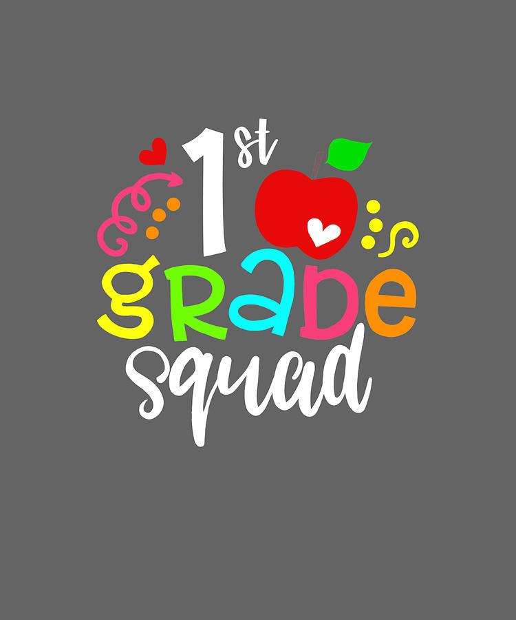 TEAM 1st FIRST GRADE Back To School T-Shirt Teacher Gift
