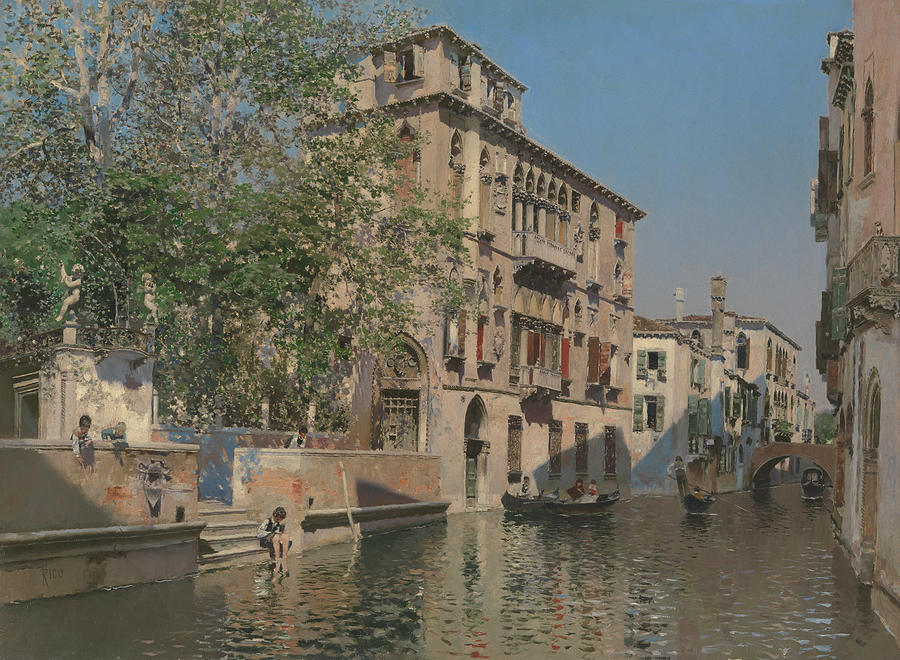 A Canal in Venice by Martin Rico y Ortega