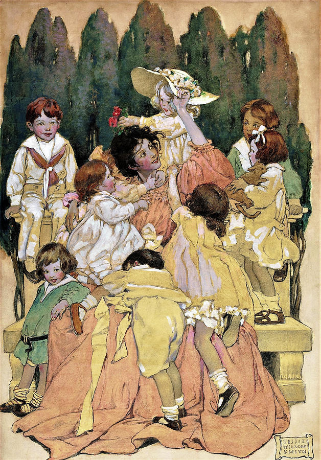 New York Painting - A Childs Garden Of Verses - Digital Remastered Edition by Jessie Willcox Smith