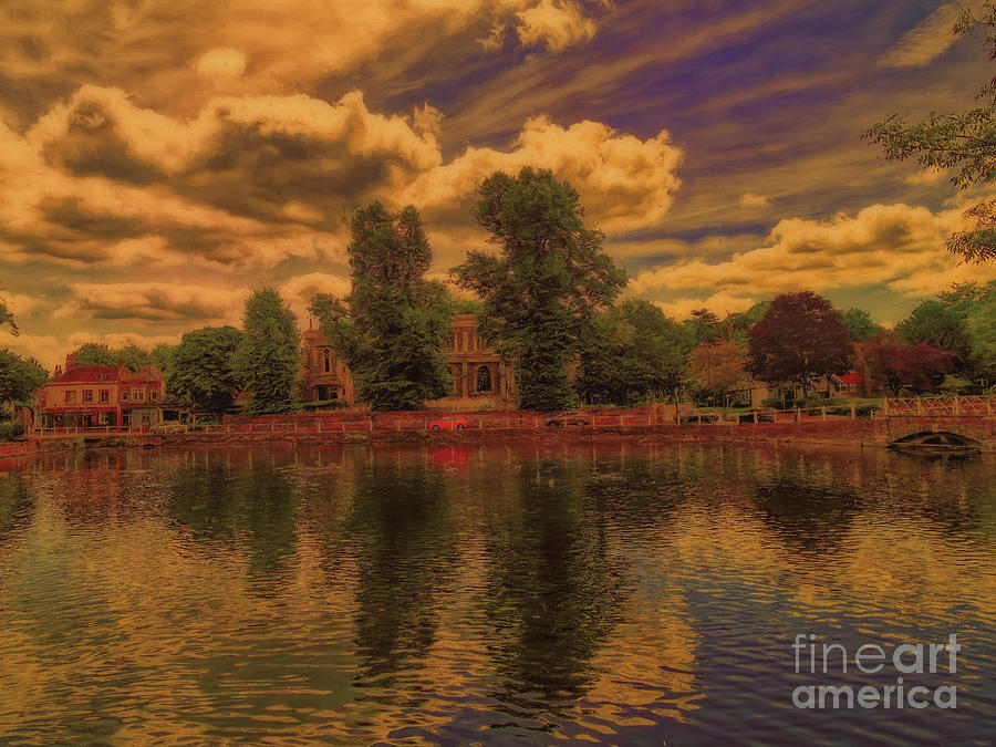 Surrey Photograph - Across the Water by Leigh Kemp