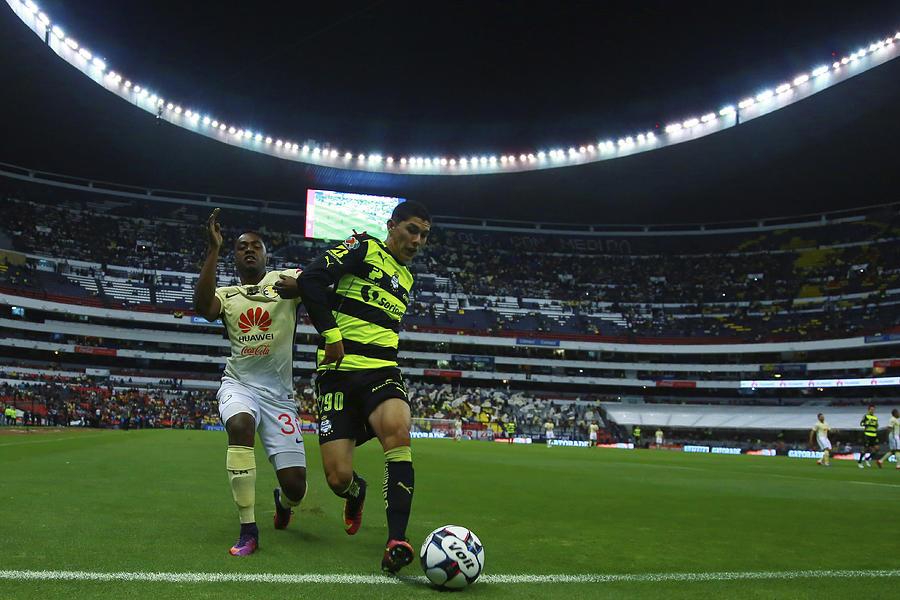America v Santos Laguna - Torneo Apertura 2016 Liga MX Photograph by Miguel Tovar