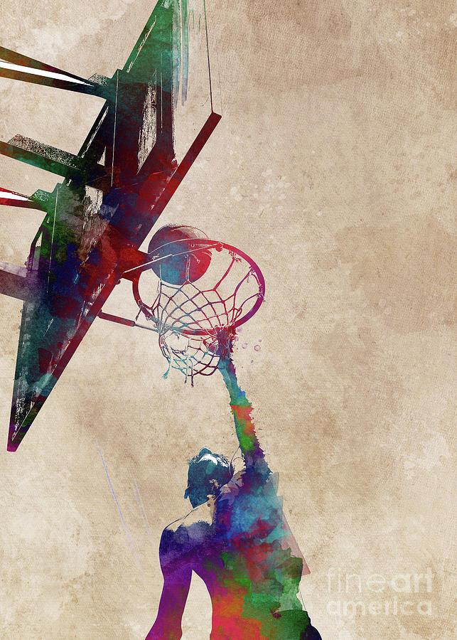 Basketball Sport Art #basketball Digital Art